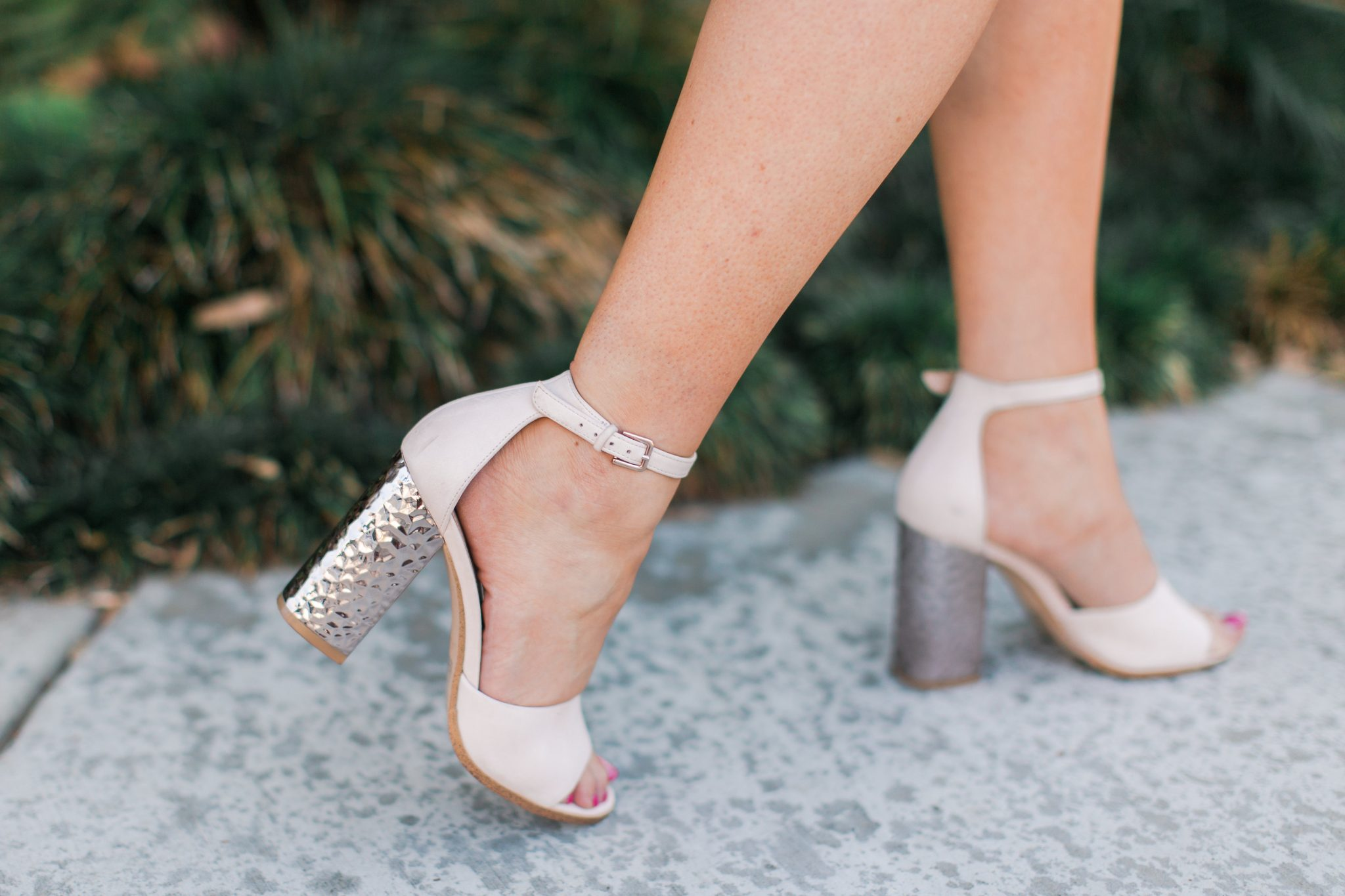 Maxie Elle | Rose gold heels - Wedding Shower Outfit by popular Orange County fashion blogger Maxie Elle