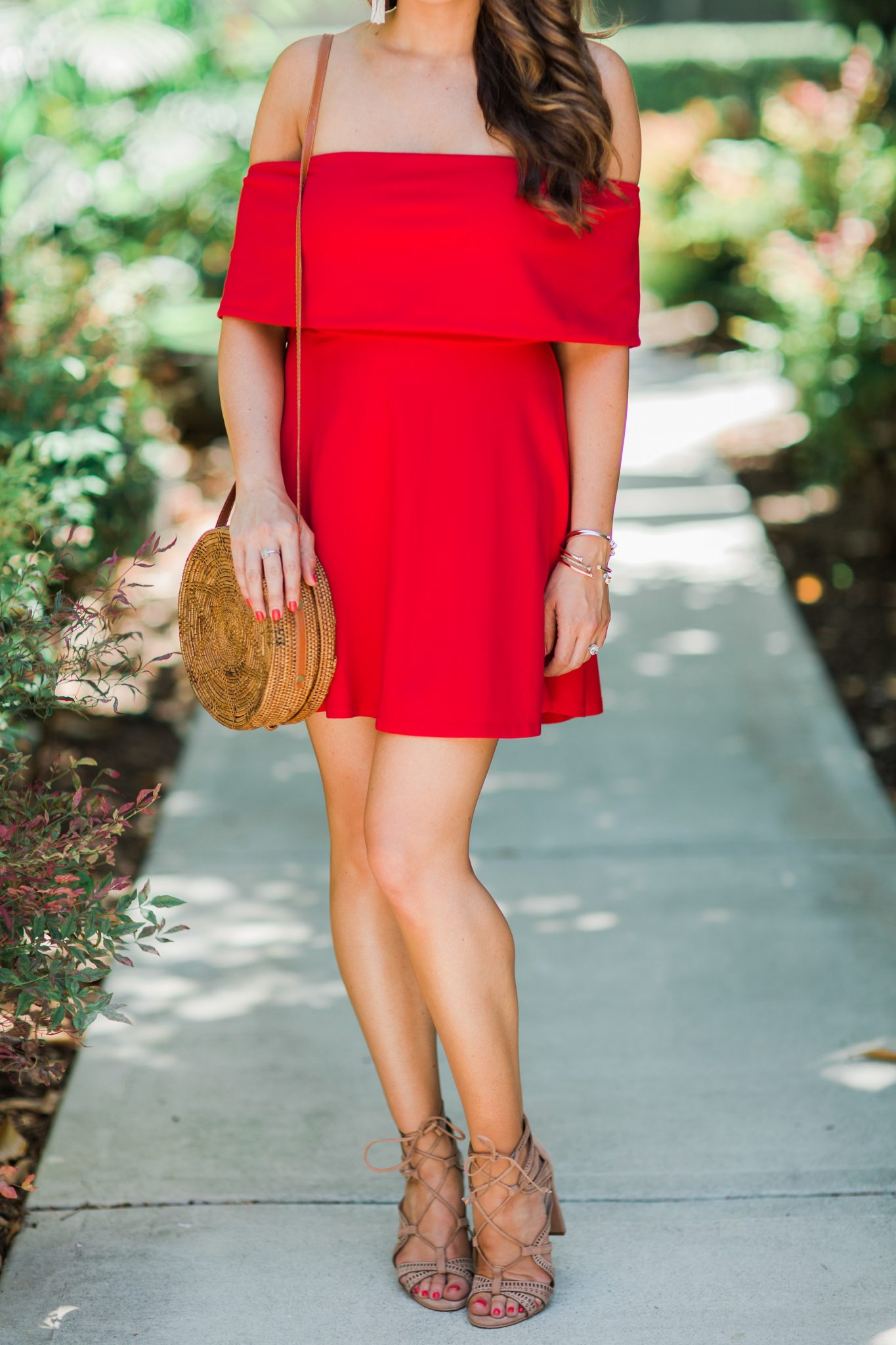 Little Red Dress styled by popular Orange County fashion blogger, Maxie Elle