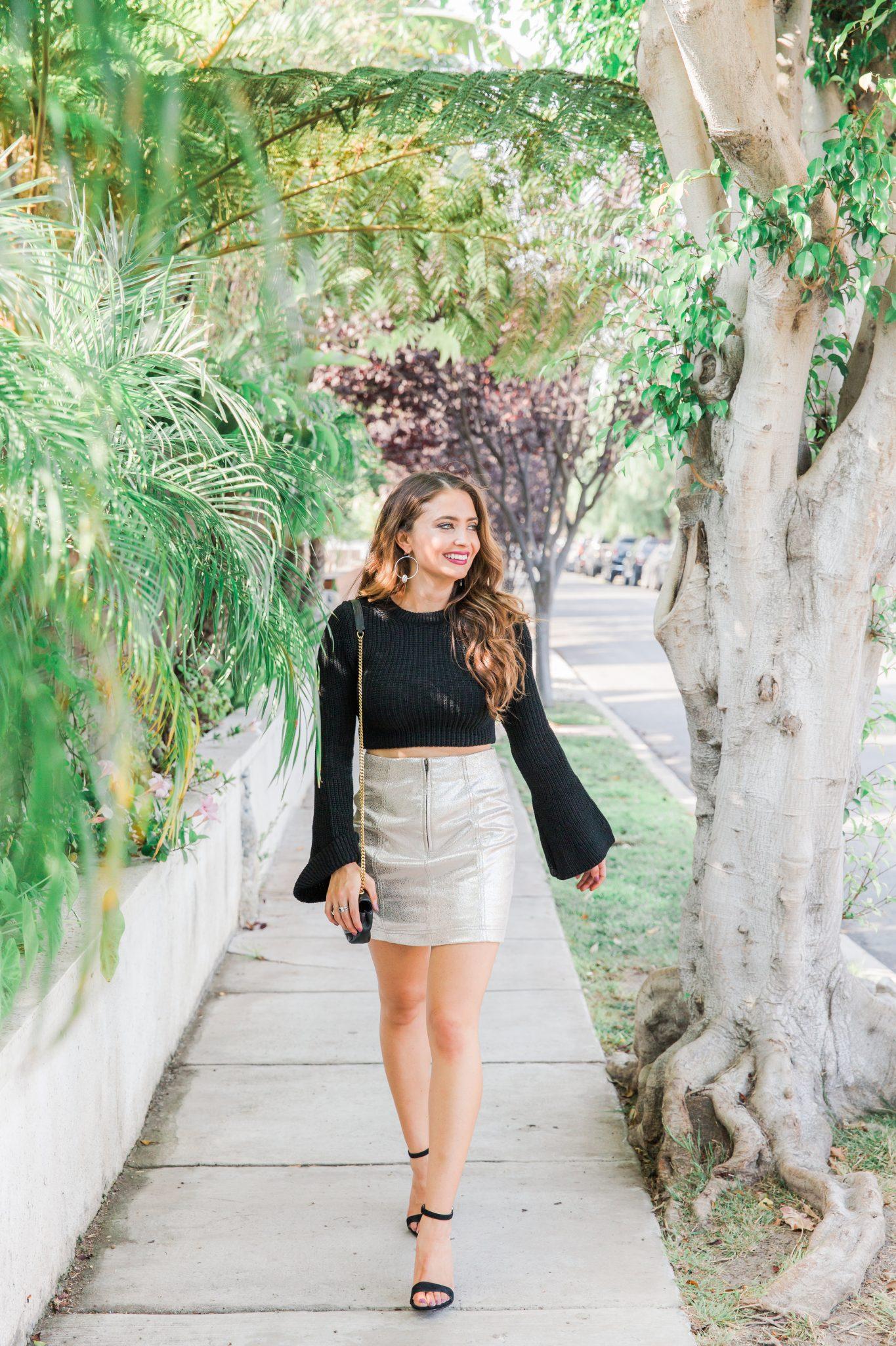 Maxie Elle | Metallic Miniskirt
