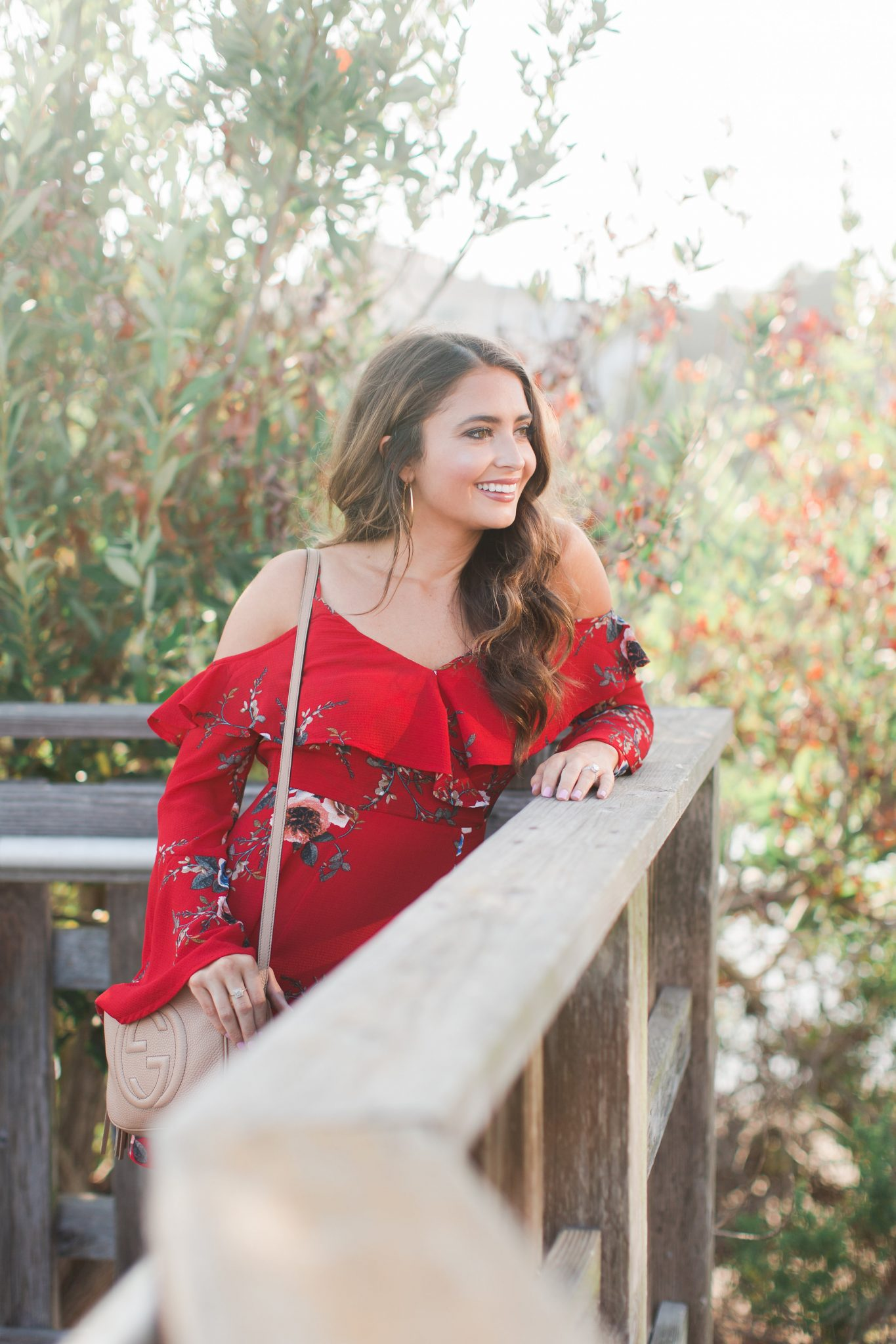 Maxie Elle | Red floral dress - Santa Barbara Getaway featured by popular Orange County travel blogger, Maxie Elle