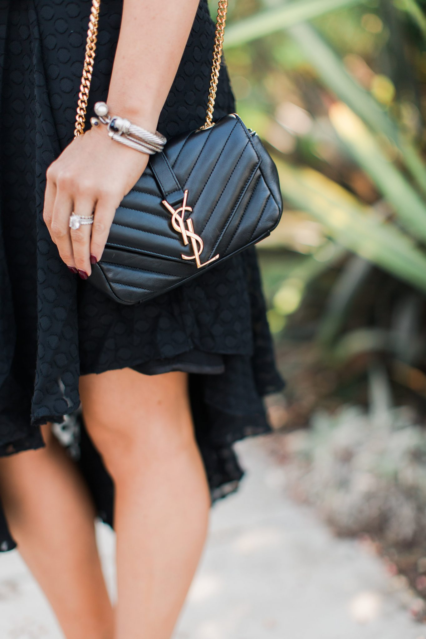 Maxie Elle | Little black dress and YSL bag - Nordstrom Half Yearly Sale Picks & The Perfect LBD by popular Orange County fashion blogger Maxie Elle