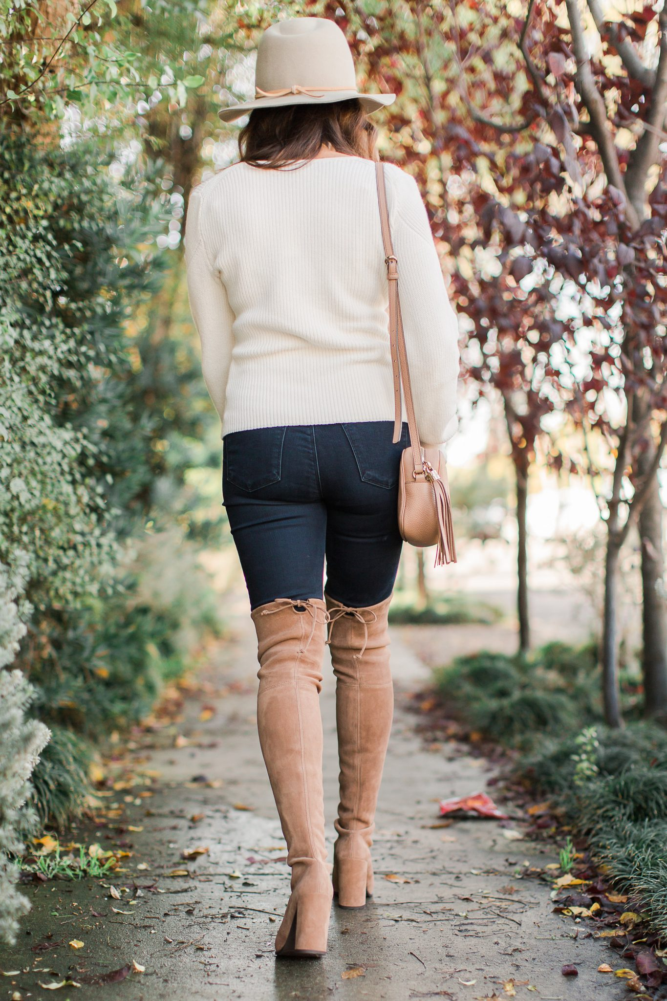 Stuart Weitzman hiline over the knee boots in chesetnut - Shopbop Sale Spring Picks featured by popular Orange County fashion blogger, Maxie Elle