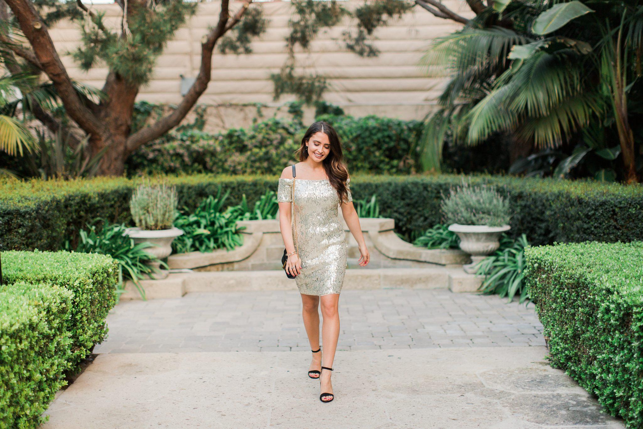 Wedding Guest Dresses with Aidan Mattox by popular Orange County fashion blogger Maxie Elle