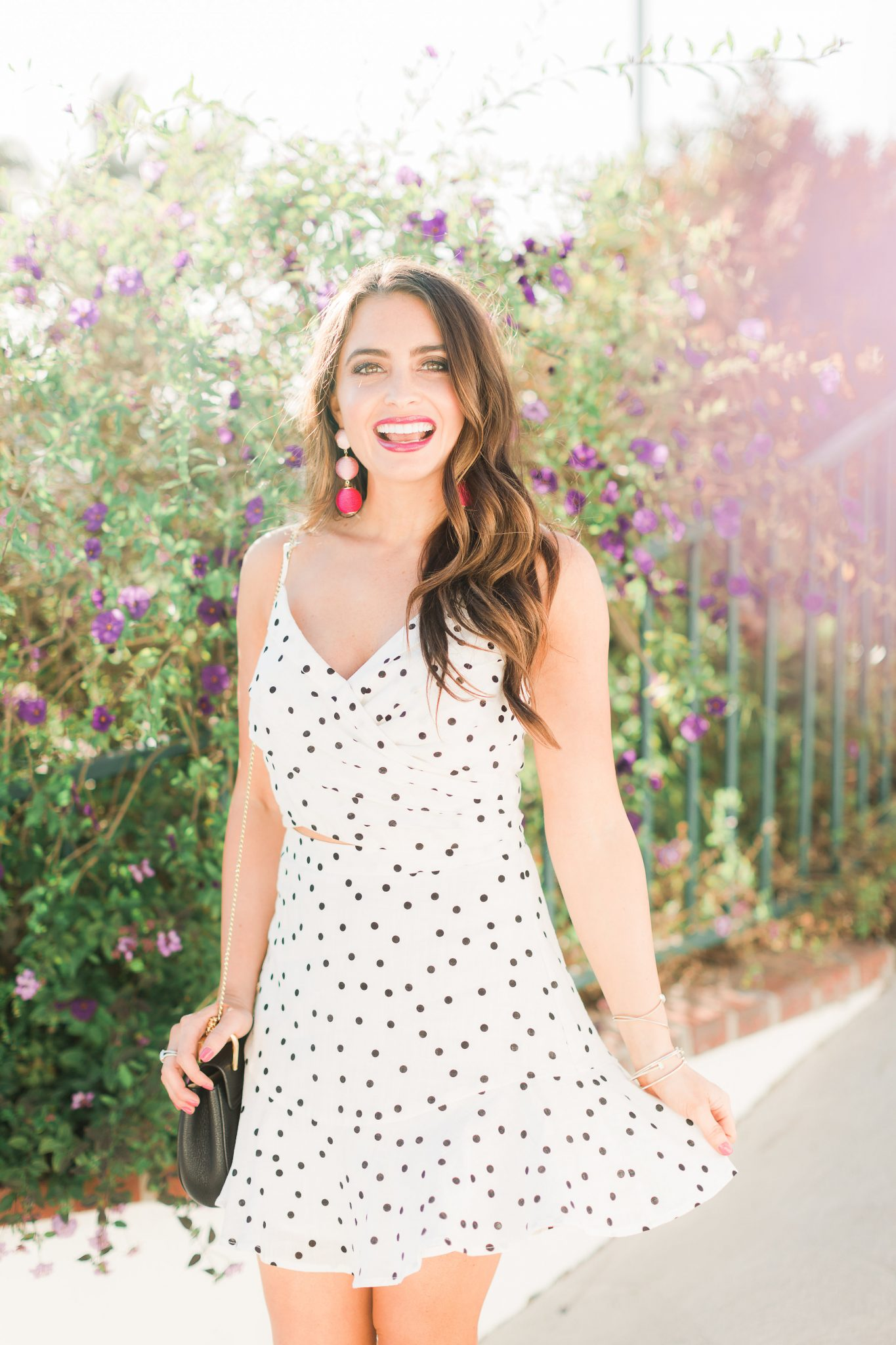 Polka dot top and skirt - Polka Dot Clothing styled by popular Orange County fashion blogger, Maxie Elle
