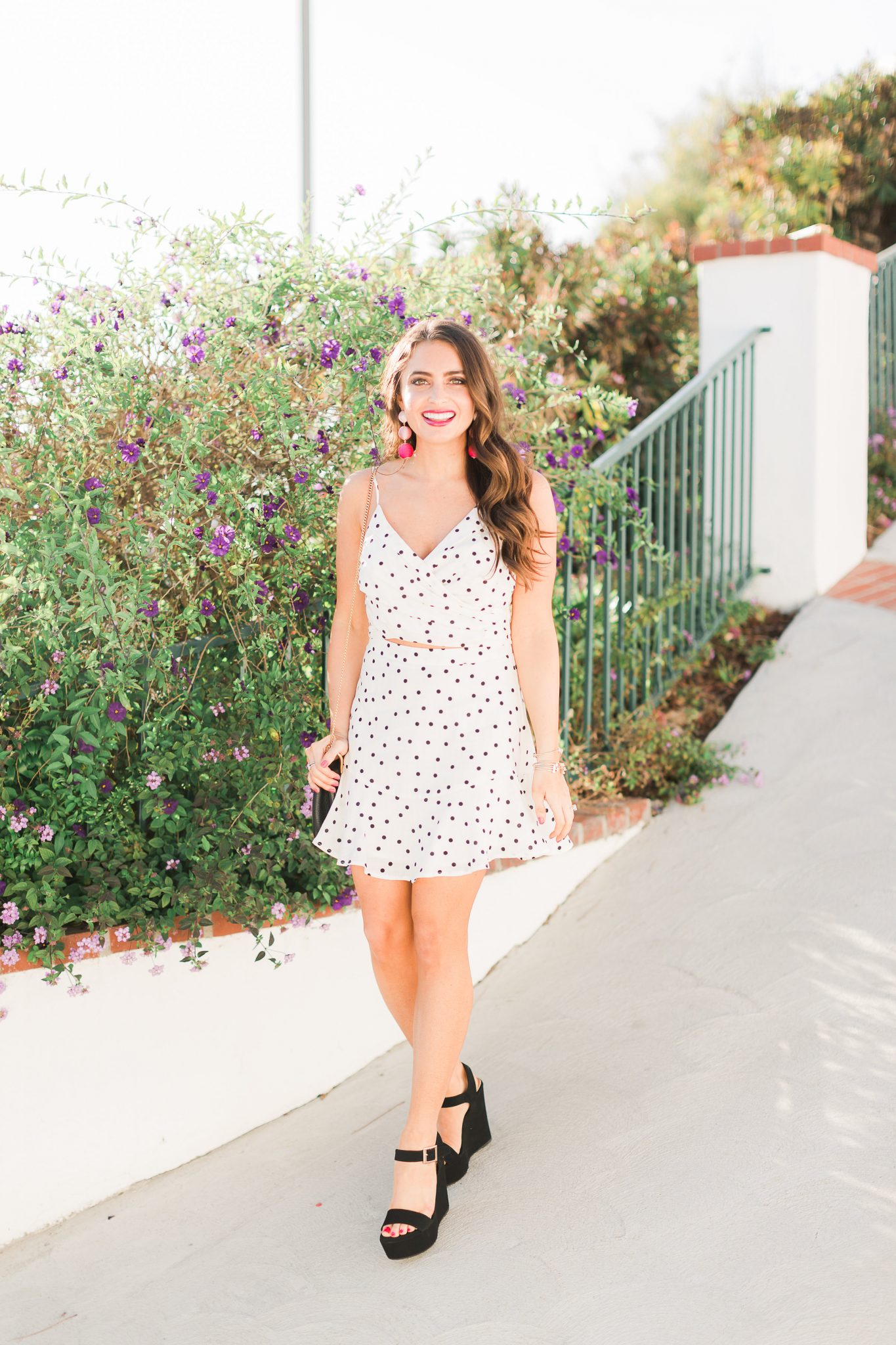 Spring Polka Dot Set - Polka Dot Clothing styled by popular Orange County fashion blogger, Maxie Elle