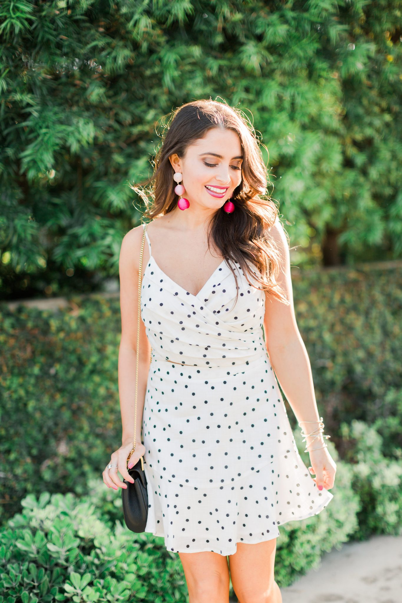 black and white polka dot set - Polka Dot Clothing styled by popular Orange County fashion blogger, Maxie Elle